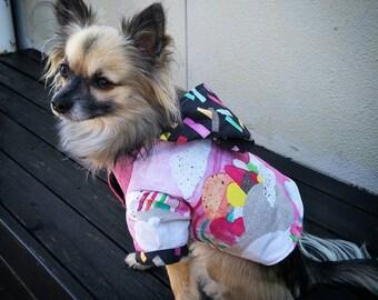 Designer Dog Hoodie, Dog Coat, Dog Parka, Small Dogs