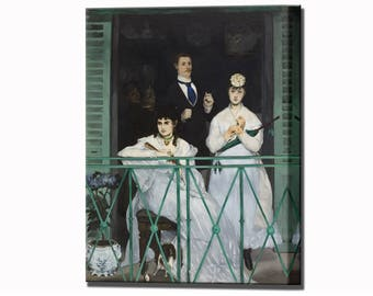 The Balcony Manet Canvas Print Wall Art Print Ready To Hang Canvas Art Home Decor
