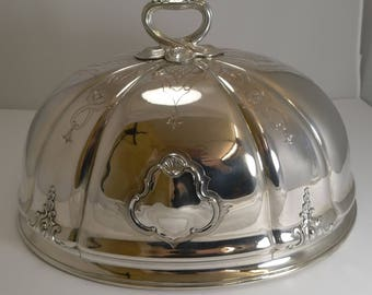 English Old Sheffield Plate Meat / Food Dome c.1840