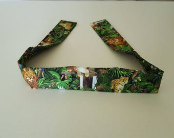 Handmade Cooling Wrap, Jungle, Loins, Tigers, Leopards, Macaws, Flowers, Neck Cooler, Cooling Wrap, Cold Scarf, Bandana