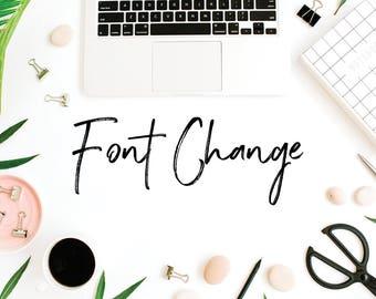 Premade Logo Add On | Font Change |