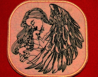 Angel embroidered badge