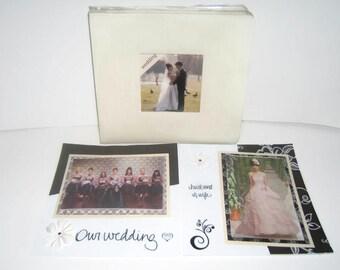 Ivory Scrapbook Album - Neutral Scrapbook Album - Wedding Album - Ivory Scrapbook - Neutral Wedding Scrapbook Album - Ivory Wedding Album