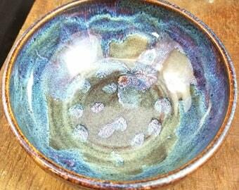 Purple/Blue Ceramic Bowl, Blue Pottery Bowl, Purple Ceramic Bowl, Serving Bowl, Fruit Bowl, Pasta Bowl, Decorative Bowl, Key Bowl