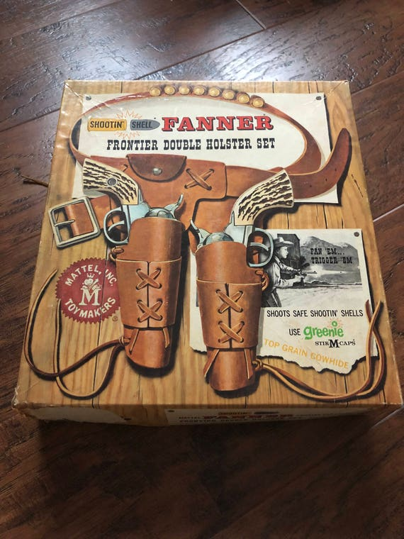 FREE SHIPPING-Fanner-Frontier Double Holster Set-Mattel Inc.