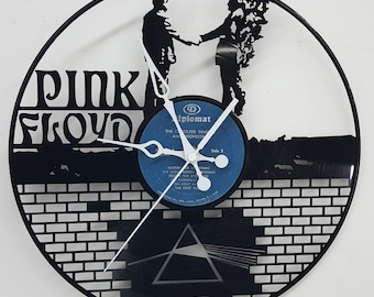 Pink Floyd Vinyl Record Clock, Pink Floyd the wall clock, Custom Clocks, Pink Floyd Gifts, Pink Floyd Vinyl, Pink Floyd Wall Art