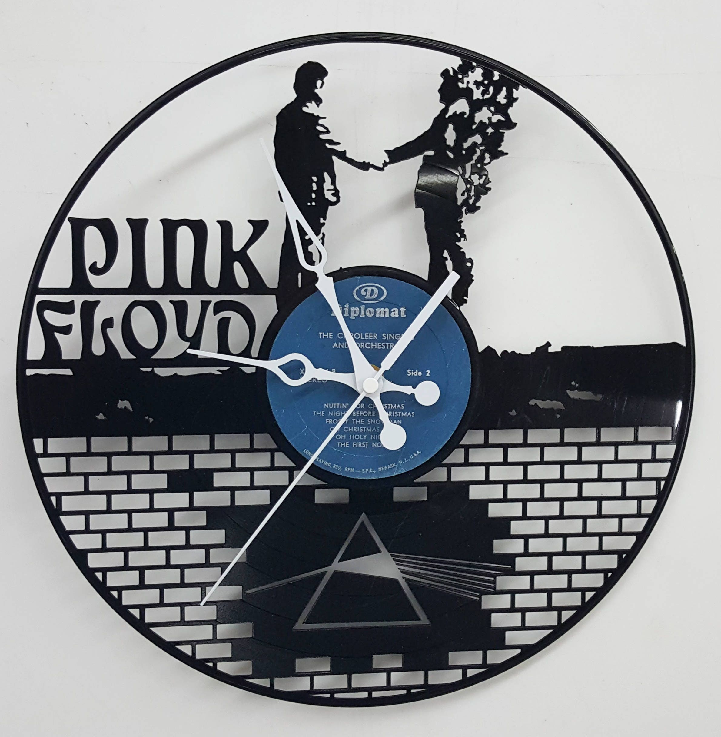 Pink Floyd Wall Art pink floyd vinyl record clock, pink floyd the wall clock, custom