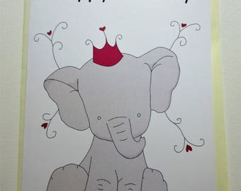 Elephant Birthday Card!