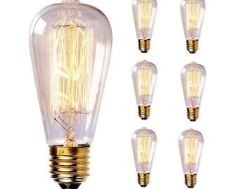 Edison Bulbs- 6 pack - Filament Bulb-60 Watt