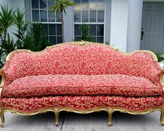 Antique  French Louis XV Style Sofa