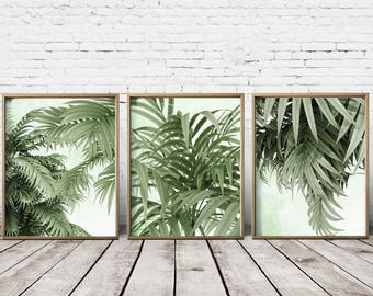 Tropical Art Tropical leaf prints Tropical Decor Tropical Wall Art Tropical Print