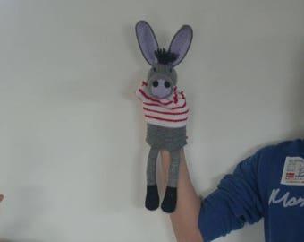 Explanatory donkey puppet