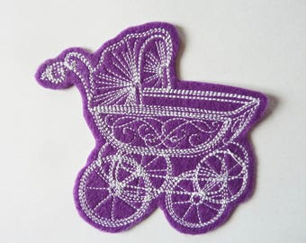 Pram badge patch embroidered patch