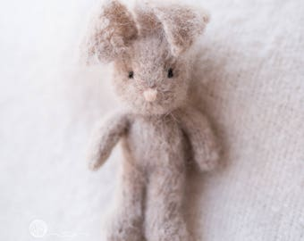 Bunny, Knitted Bunny Rabbit, Knitted Rabbit, Photography prop, UK Seller, Off White bunny, beige bunny, bunny prop