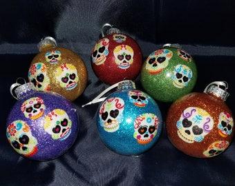 Mini Skull Ornaments - Set of 6