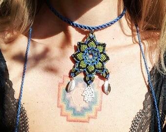 Collar with Flor mandala