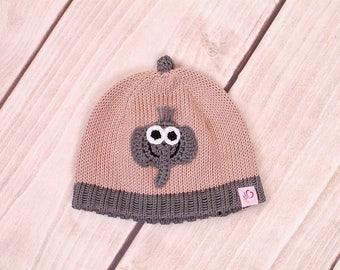 Baby hat, knit CAP, hat, elephant