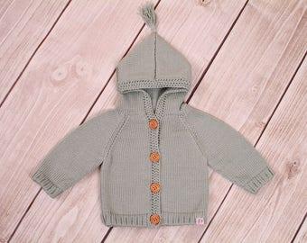Baby jacket Cardigan hooded jacket