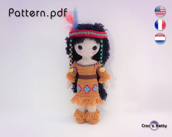 Pattern - Craquotine the little Native Indian