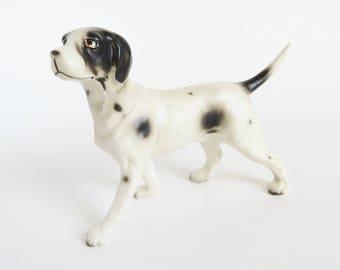Pointer Dog Figurine, Vintage English Pointer Dog Figurine, Collectible Dog Figurine, Ceramic Dog Figure, Dog Lover Gift, Hunting Dog, Japan