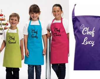 Personalised Kids Childrens Chef (Name) Apron Baking Cooking Novelty Gift Child Personalized Custom Baking Cookery Fan