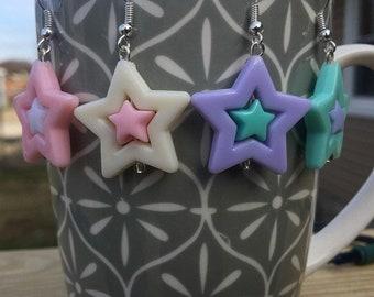 Kawaii Pastel Star Earrings