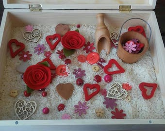 Valentine Sensory Bin Mix