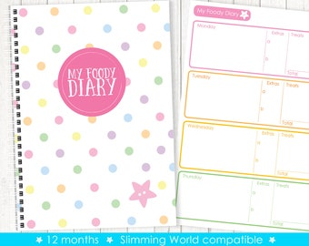 My Foody Diary: compatible with Slimming World (12 months) food diary / planner