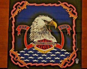 """Vintage Harley Davidson Eagle Bandana """"EST. 1908"""""""