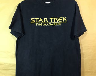 STAR TREK The Magazine Paramount Pictures T-shirt Adult Large Size Chest 22""