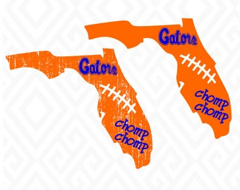 Distressed Florida Gators; SVG, DXF, EPS, Ai, Jpeg, Png, and Pdf Cutting Files for Electronic Cutting Machines