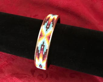 Beaded Cuff Bracelet Design #33