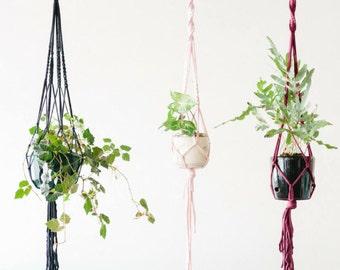 Macrame Plant Hanger DIY Kit - includes ebook Instructions / Tutorial / Pattern for beginners