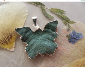 ON SALE Teal Green Agate Crystal Druzy Butterfly Pendant ~ Organic Surface ~ Silver Plated ~ 36x27mm