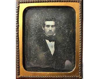 Antique daguerreotype photo