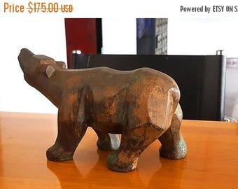 Bronze Polar Bear sculpture hand made Antique