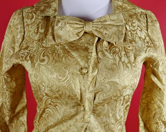 Fashioned by Fiobert Gold Metallic Pantsuit 1960's