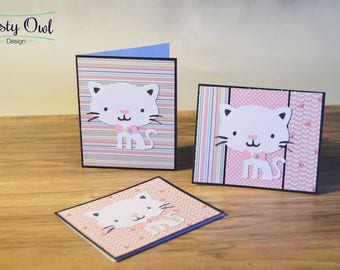 Cat Greeting Cards (Set of 3)