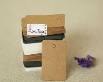 40 pcs mini hang tags, kraft paper gift tags, name card tags, swing tags, label tags - 3.3 x 2cm
