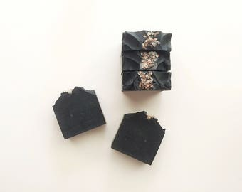Grapefruit Activated Charcoal Soap // Vegan // Cruelty Free // All Natural