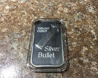 The one ounce silver bullet bar