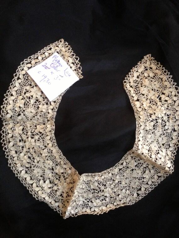 1930 vintage maltese lace collar 24 inchesx3