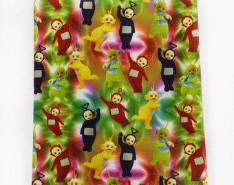 """Tissu Coton imprimé thème """" Teletubbies """""""