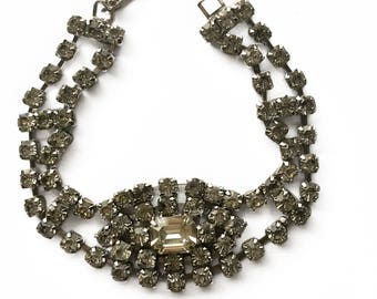 Double Strand Rhinestone Bracelet