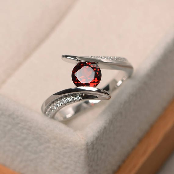like this item - Garnet Wedding Ring