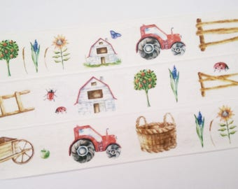 Design Washi tape farm countryside village of masking tape