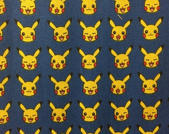 Pokemon fabric - fabric - material - sewing supply -notion - bty 1 yard