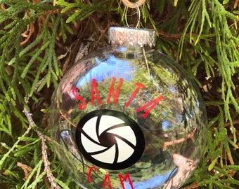 Santa cam ornaments