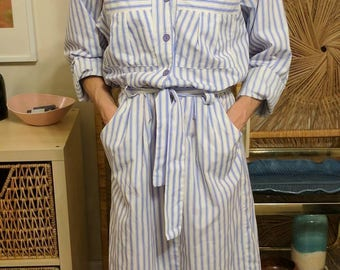 Vintage Striped Shirt Dress