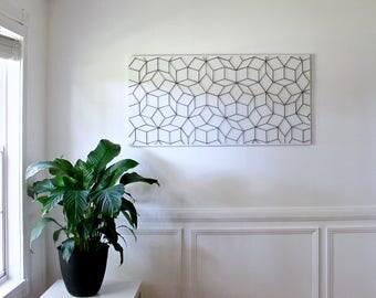 Geometric Wall Hanging, Geometric Wall Art, Large Wall Art, Modern Wall Art,
